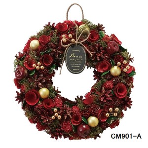 クリスマスリース (Natural wreath) BASIC RED 1
