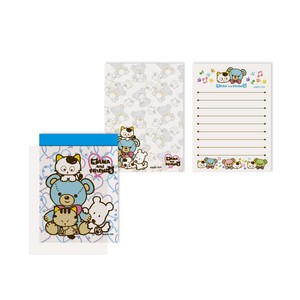 Tama&Friends Memo pad Bear Blue Cat
