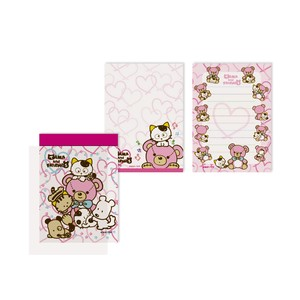 Tama&Friends Memo pad Bear Pink Cat