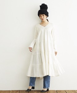 HAND SMOCKING・ONE PIECE DRESS