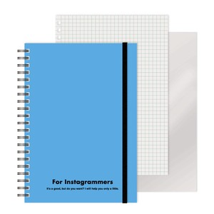 Ring Notebook colored Sky Blue