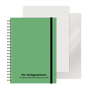 Ring Notebook colored Green