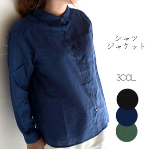 Cotton Linen Shirt Jacket