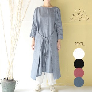 Linen Apron One-piece Dress