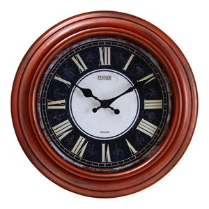 Wall Clock 30cm Red Brown