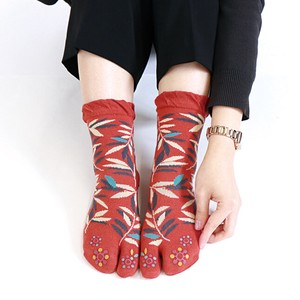 Toe Print Culture Tabi Socks Toe Cracking Socks Kyoto