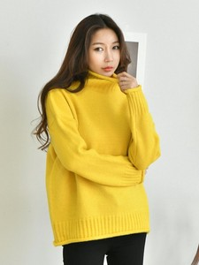 12 Colors High Neck Color Knitted
