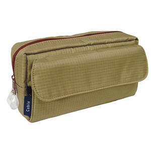 Pencil Case Square Brown