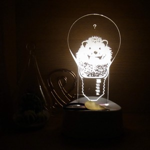 LED Light LED Accessory Stand Fancy Goods Hedgehog