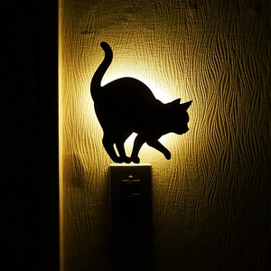 LED Light Cat Light Wall Light Made in Japan