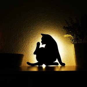 LED Light Cat Light Mending Wall Light Made in Japan