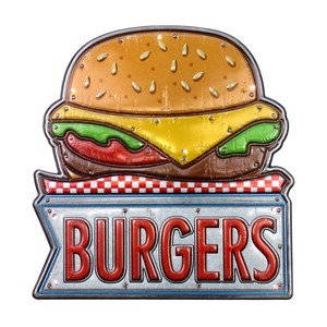 American LED Sticker Hamburger