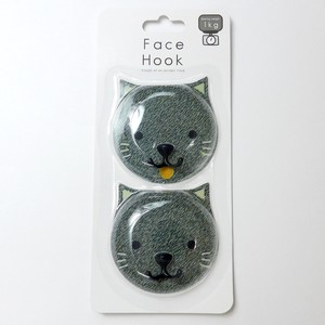 Adsorption Sheet Hook 2 Pcs Black cat