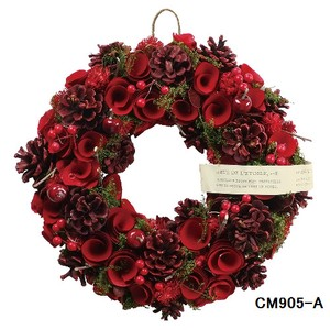 クリスマスリース (Natural wreath) NATURAL RED 1