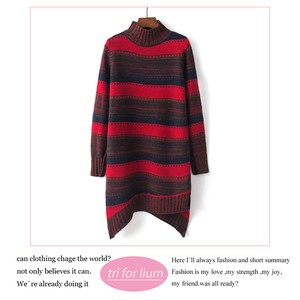 2018 A/W Border Color Scheme Design Long Sweater