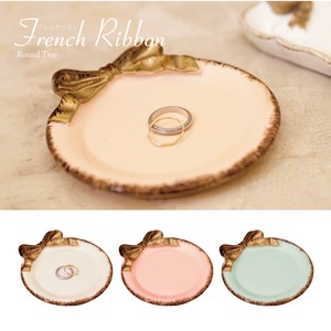 French Ribbon Round Tray