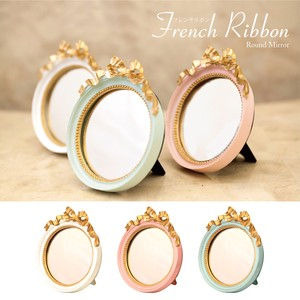 French Ribbon Round Mirror