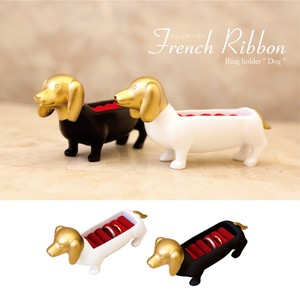 French Ribbon Ring Holder Dog