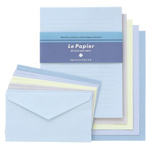 colored Writing Papers & Envelope Blue