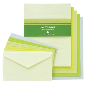 colored Writing Papers & Envelope Green