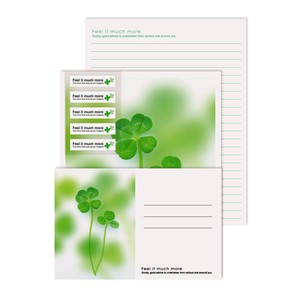 Photo Writing Papers & Envelope Clover Flower Plant