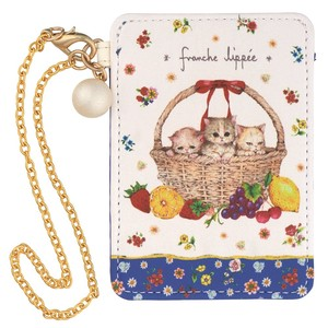 Cotton Pearl Point Commuter Pass Holder Basket