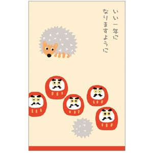 Message Petit envelope Daruma