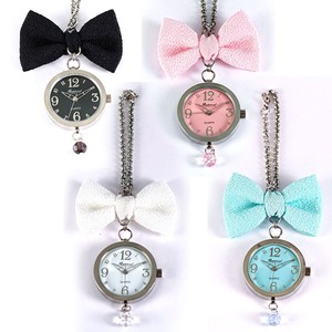 Ribbon Bag Charm Watch Key Ring Handbag Clock/Watch Hanging Watch