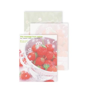 Photo Letter Pad Fresh Strawberry Sweets