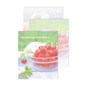 Photo Letter Pad Strawberry Sweets