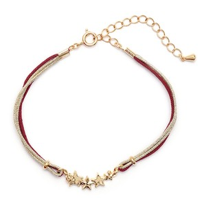 Star Charm Bracelet Dark Red