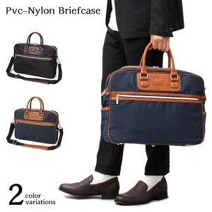 Nylon Leather Switch Brief Case Business Bag