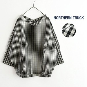 Shirt Three-Quarter Length Blouse Pullover Gingham Check