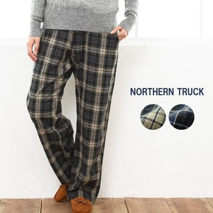 Checkered wide pants Pants Thick