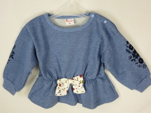 A/W Denim Fleece Gigging Ribbon Attached Sweatshirt