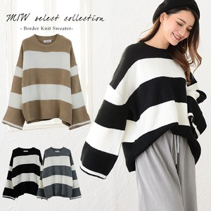 Appreciation Border Knitted Sweater Sweater