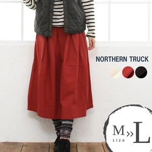 Line Flare Skirt Below-The-Knee Long Skirt