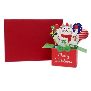 Greeting Card Envelope Attached Solid Christmas Card
