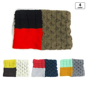 Fastener Attached Cable Knitted Neck Warmer