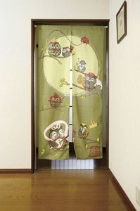 Owl Long Japanese Noren Curtain
