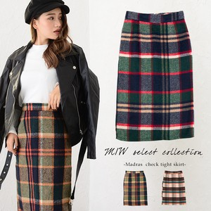 Appreciation Madras Checkered Middle Skirt Madras Checkered Middle