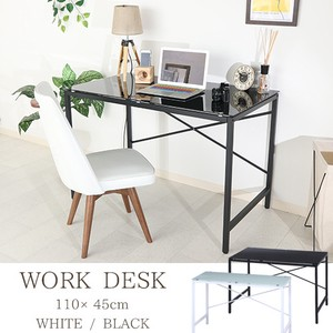 Work Desk Glass Top 2 Colors