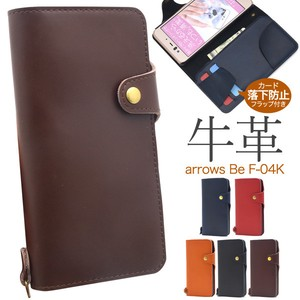 Smartphone Case Fine Quality Smooth Cow Leather Use Cow Leather Notebook Type Case