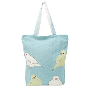 Humming Bird Fastener Attached Canvas Tote
