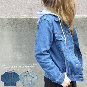 Casual With Hood Denim Jacket