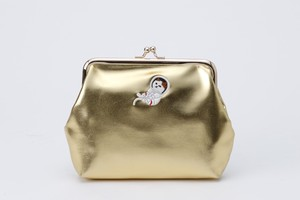 Metallic Coin Purse Pouch Champagne Gold