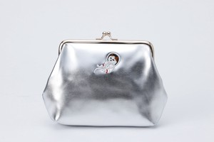 Metallic Coin Purse Pouch Champagne Silver