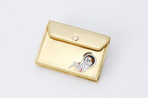 Metallic Card Case Champagne Gold