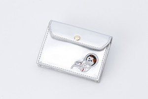Metallic Card Case Champagne Silver