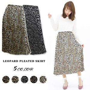 2018 A/W Leopard Pleats Skirt